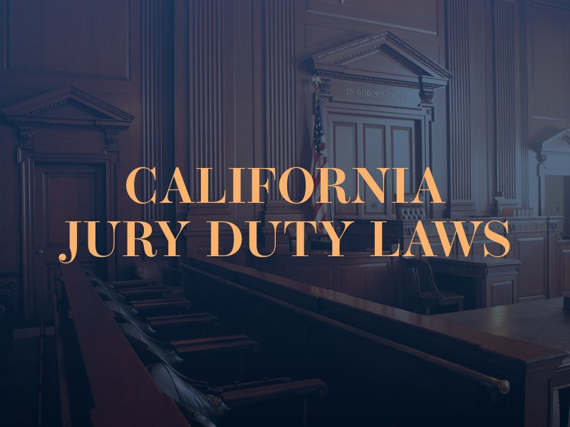 Jury Duty Pay California